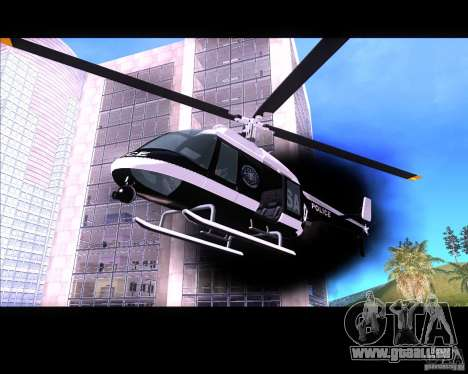GTA IV Police Helicopter für GTA San Andreas linke Ansicht
