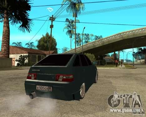 VAZ 21124 1.6 16 soupapes (i) Lettonie (TERMITE) pour GTA San Andreas sur la vue arrière gauche