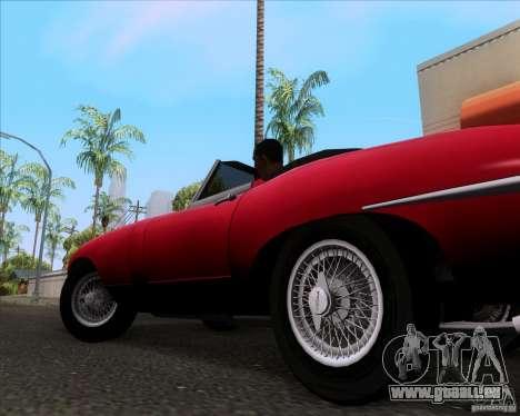 Jaguar E-Type 1966 pour GTA San Andreas vue arrière