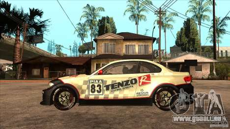 BMW 135i Coupe GP Edition Skin 1 pour GTA San Andreas laissé vue