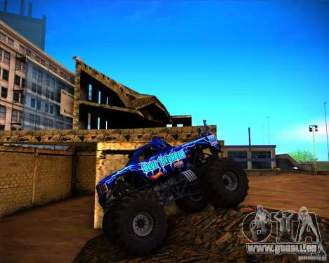 Monster Truck Blue Thunder für GTA San Andreas Innenansicht