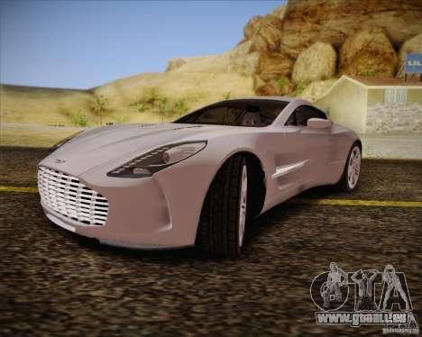 Aston Martin One-77 für GTA San Andreas Rückansicht