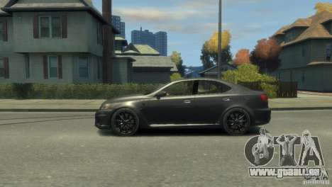 Lexus IS F für GTA 4 Seitenansicht