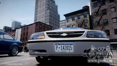 Chevrolet Impala Unmarked Police 2003 v1.0 [ELS] für GTA 4 obere Ansicht