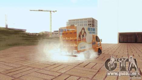 Hafei Camion de Gas für GTA San Andreas Rückansicht