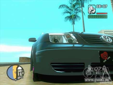 VW Bora Tuned pour GTA San Andreas laissé vue