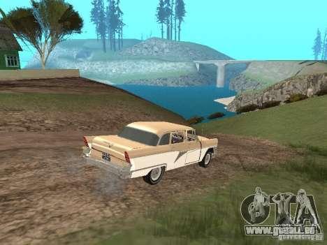 GAZ 13 pour GTA San Andreas vue de dessus