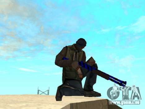 Blue and black gun pack für GTA San Andreas zweiten Screenshot