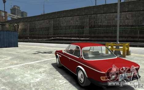 BMW 3.0 CSL E9 1971 pour GTA 4 Vue arrière de la gauche