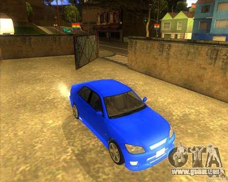 Toyota Altezza RS200 1998 pour GTA San Andreas vue de droite