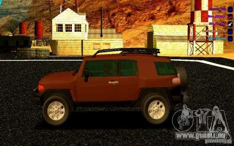 Toyota FJ Cruiser für GTA San Andreas linke Ansicht
