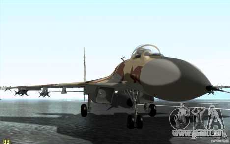 Le Su-37 Terminator pour GTA San Andreas laissé vue