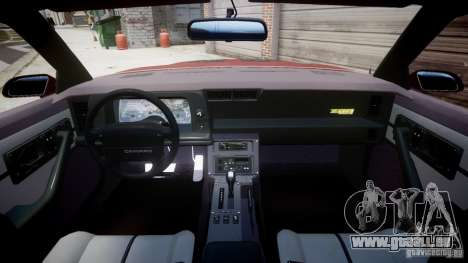 Chevrolet Camaro 1990 IROC-Z v1.5 für GTA 4 hinten links Ansicht
