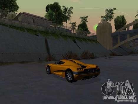 Koenigsegg CCX pour GTA San Andreas vue de droite