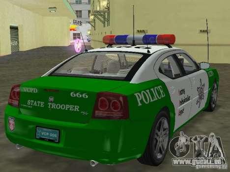 Dodge Charger Police pour une vue GTA Vice City de la gauche