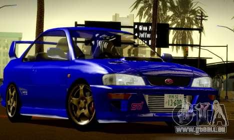 Subaru Impreza WRX GC8 InitialD pour GTA San Andreas vue intérieure