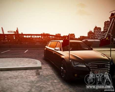 Audi A8 Limo für GTA 4 hinten links Ansicht