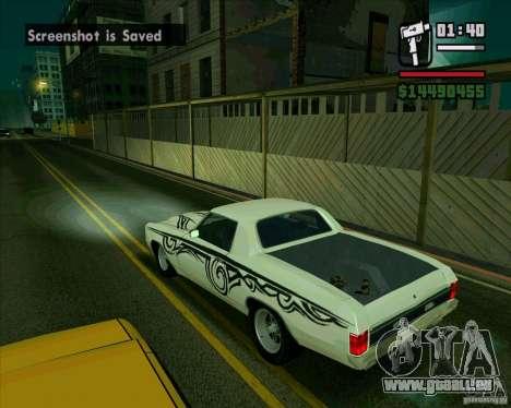 Chevrolet Chevelle SS für GTA San Andreas zurück linke Ansicht
