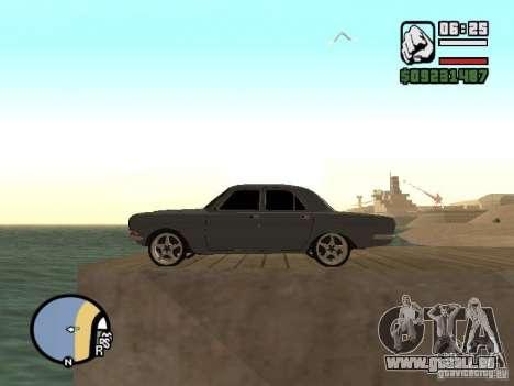 Réglage gaz 2410 pour GTA San Andreas vue de droite