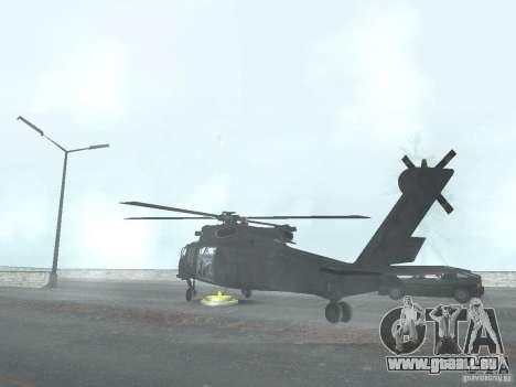 L'hélicoptère du CoD 4 MW pour GTA San Andreas laissé vue