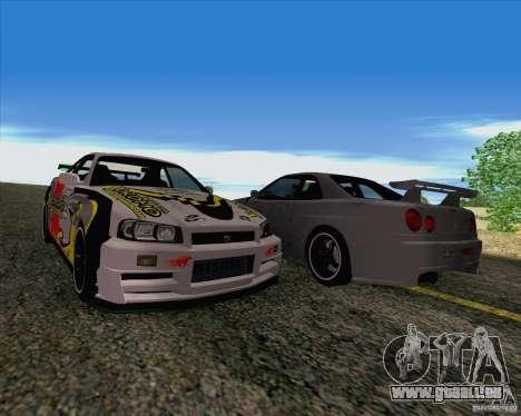 Nissan Skyline R34 Z-Tune V3 pour GTA San Andreas vue intérieure