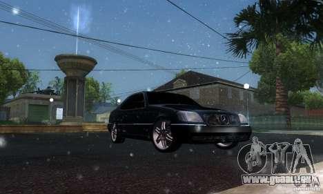 Mercedes-Benz 600SEC pour GTA San Andreas vue intérieure