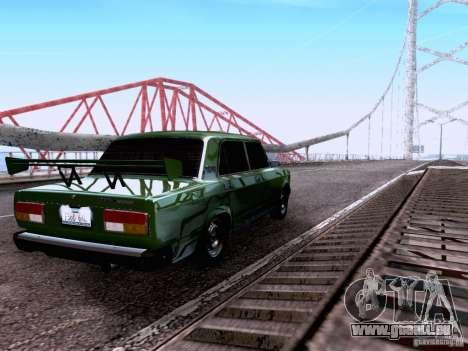 VAZ 2107 pour GTA San Andreas vue de dessous