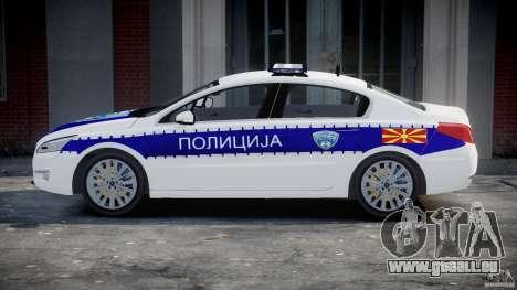 Peugeot 508 Macedonian Police [ELS] pour GTA 4 est une vue de l'intérieur