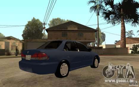Honda Accord 2001 beta1 pour GTA San Andreas vue de droite