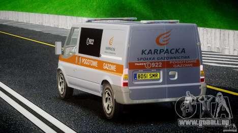 Ford Transit Usluga polski gazu [ELS] pour GTA 4 Vue arrière de la gauche
