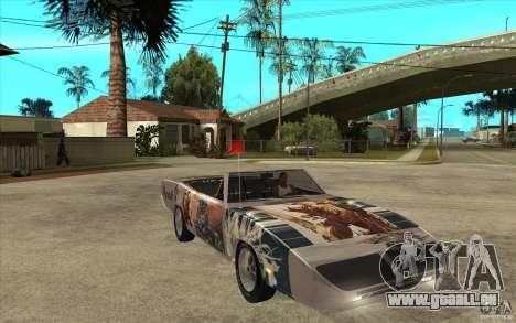 Plymouth Roadrunner Superbird Custom pour GTA San Andreas vue arrière