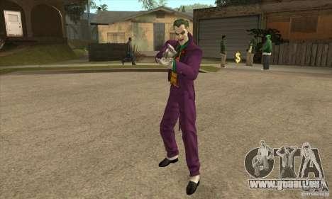 HQ Joker Skin pour GTA San Andreas deuxième écran