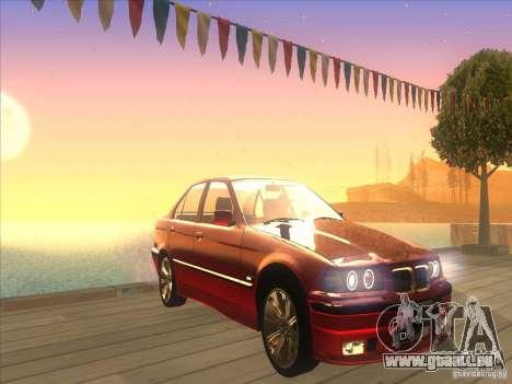 BMW E36 pour GTA San Andreas vue intérieure