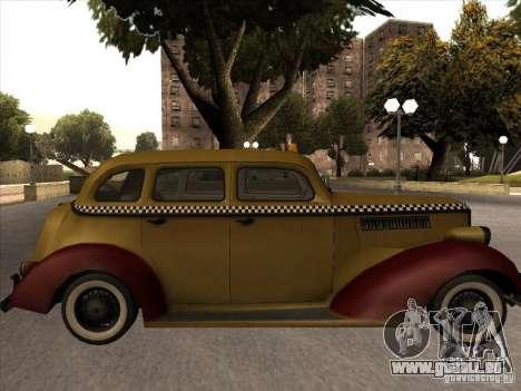 Shubert TAXI de MAFIA 2 pour GTA San Andreas sur la vue arrière gauche