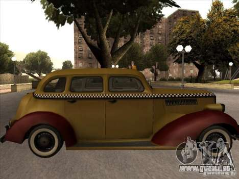 Shubert TAXI Mafia 2 für GTA San Andreas zurück linke Ansicht