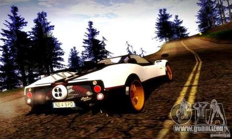 Pagani Zonda Tricolore V2 pour GTA San Andreas laissé vue