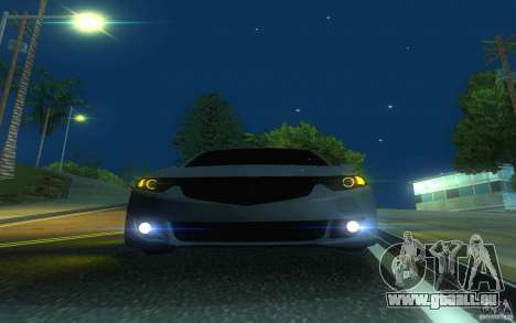 Honda Accord pour GTA San Andreas vue de dessus
