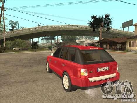 Range Rover Sport 2007 pour GTA San Andreas sur la vue arrière gauche