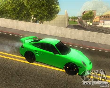 Porsche 911 GT2 (997) black edition pour GTA San Andreas laissé vue
