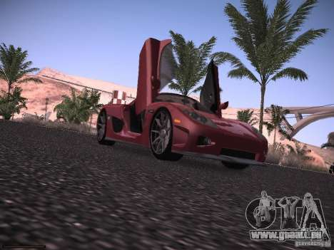 Koenigsegg CCX 2006 für GTA San Andreas Rückansicht