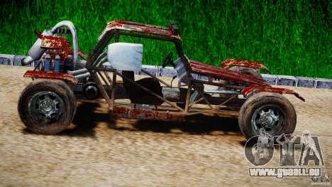 Buggy Avenger v1.2 pour GTA 4 est une vue de l'intérieur