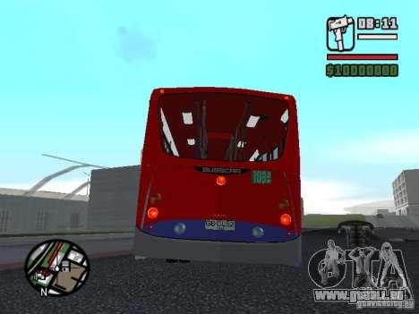 Busscar Urbanuss Pluss VW 17-230 EOD Alongado pour GTA San Andreas vue de droite
