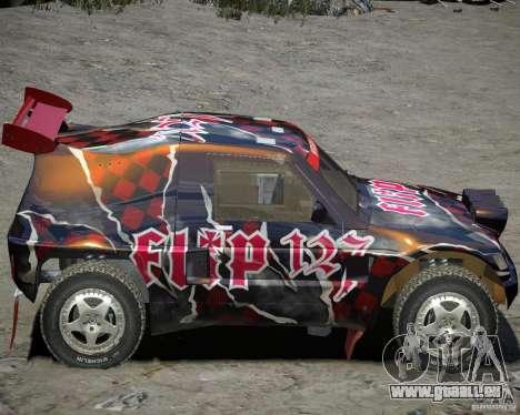 Mitsubishi Pajero Proto Dakar vinyle 3 pour GTA 4 Vue arrière de la gauche