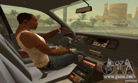 Ford Crown Victoria Oklahoma Police pour GTA San Andreas sur la vue arrière gauche
