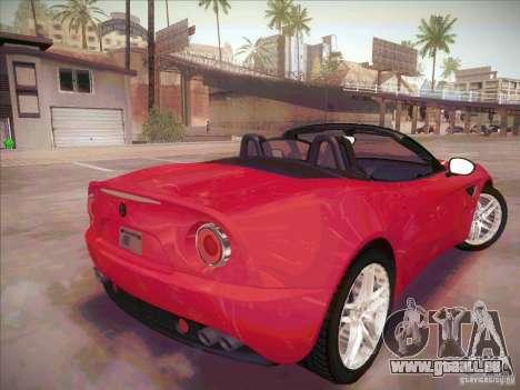 Alfa Romeo 8C Spider für GTA San Andreas zurück linke Ansicht