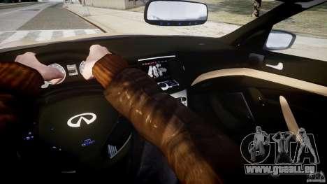 Infiniti G37 Coupe Sport für GTA 4 Rückansicht