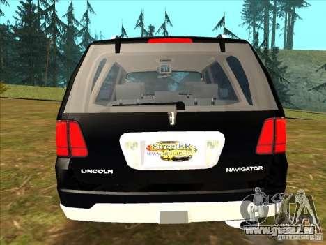 Lincoln Navigator für GTA San Andreas zurück linke Ansicht