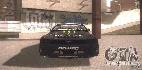 Ford Mustang Monster Energy pour GTA San Andreas laissé vue