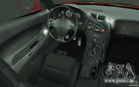 Mazda RX-7 - FnF2 pour GTA San Andreas vue de dessous
