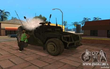 GAZ-2975-Tiger für GTA San Andreas Rückansicht